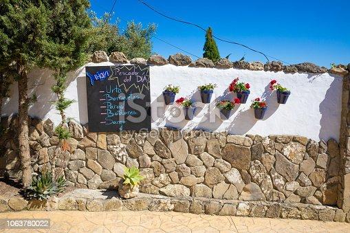 508216406 istock photo spanish fish menu outdoor of restaurant 1063780022
