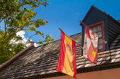 istock Spanish Flag at St Augustine, Florida, USA 1261941874
