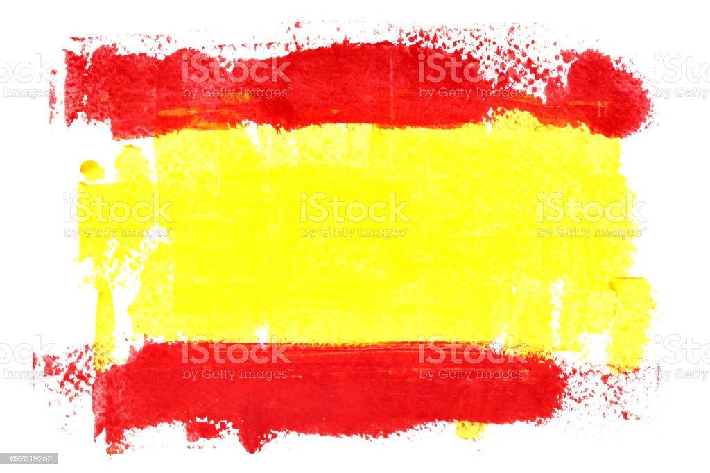 Spanish flag by brush strokes - foto stock