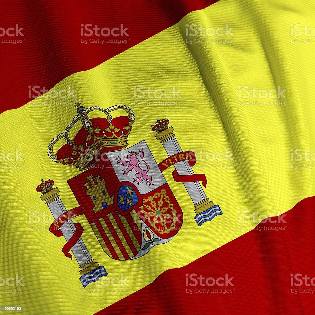 Spanish Flag Closeup royalty-free stock photo