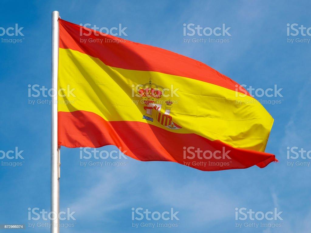 Pavilhão espanhol da Espanha sobre o céu azul - foto de acervo