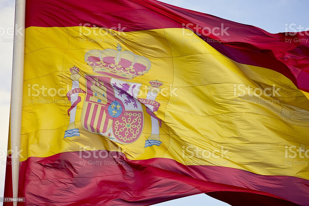 Spanish Flag royalty-free stock photo