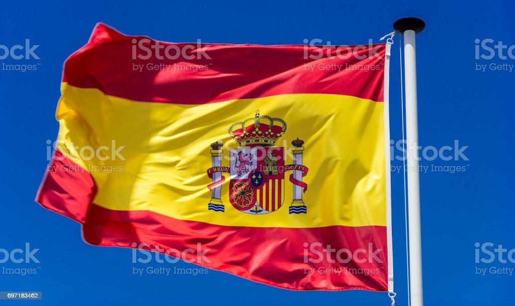 Spanish flag. Reversed stock photo