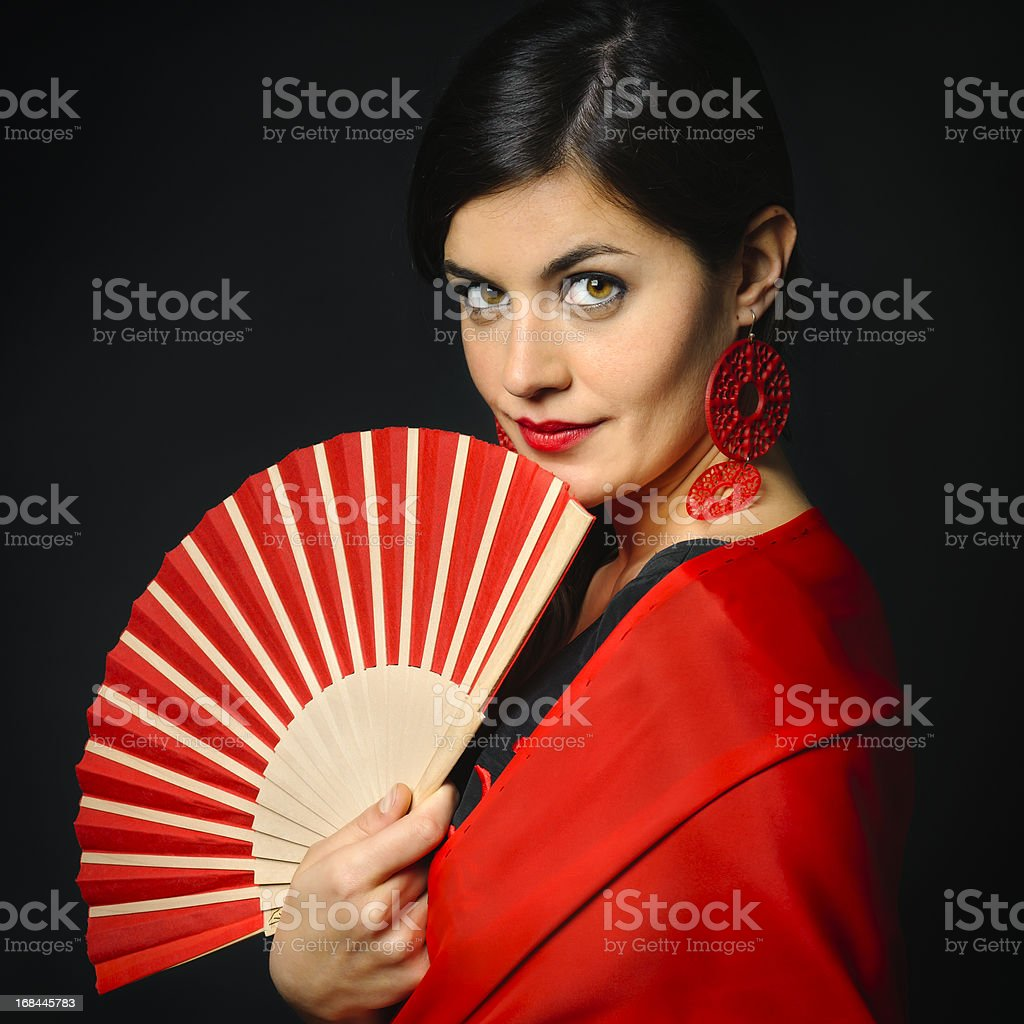 Spanish flamenco portrait royalty-free stock photo
