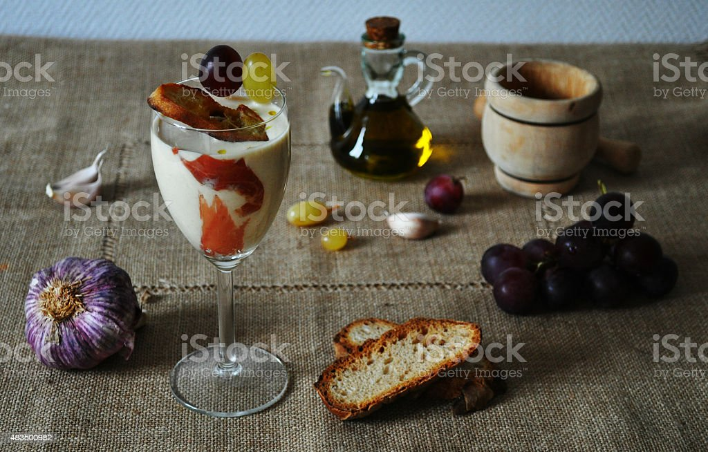 Alimentos Ajoblanco español - foto de stock