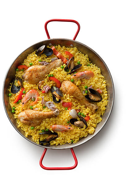 spanish food: paella - paella stock photos and pictures