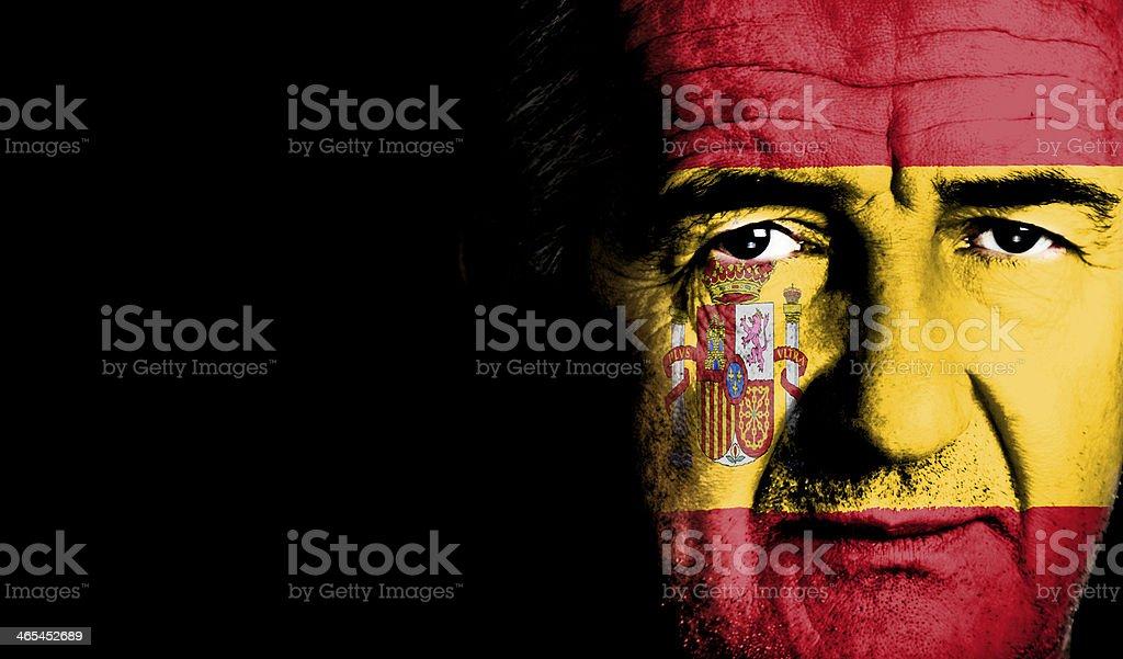 Spanish Footbal Fan royalty-free stock photo