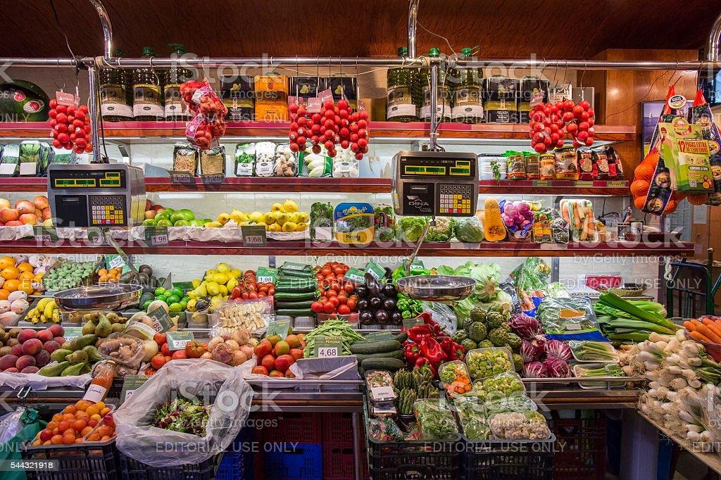 Spanish Grocery Shop - Barcelona - Spain stock photo