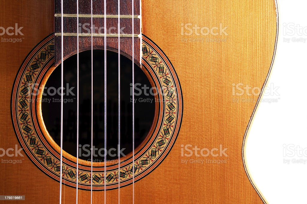 spanish guitar detail royalty-free stock photo