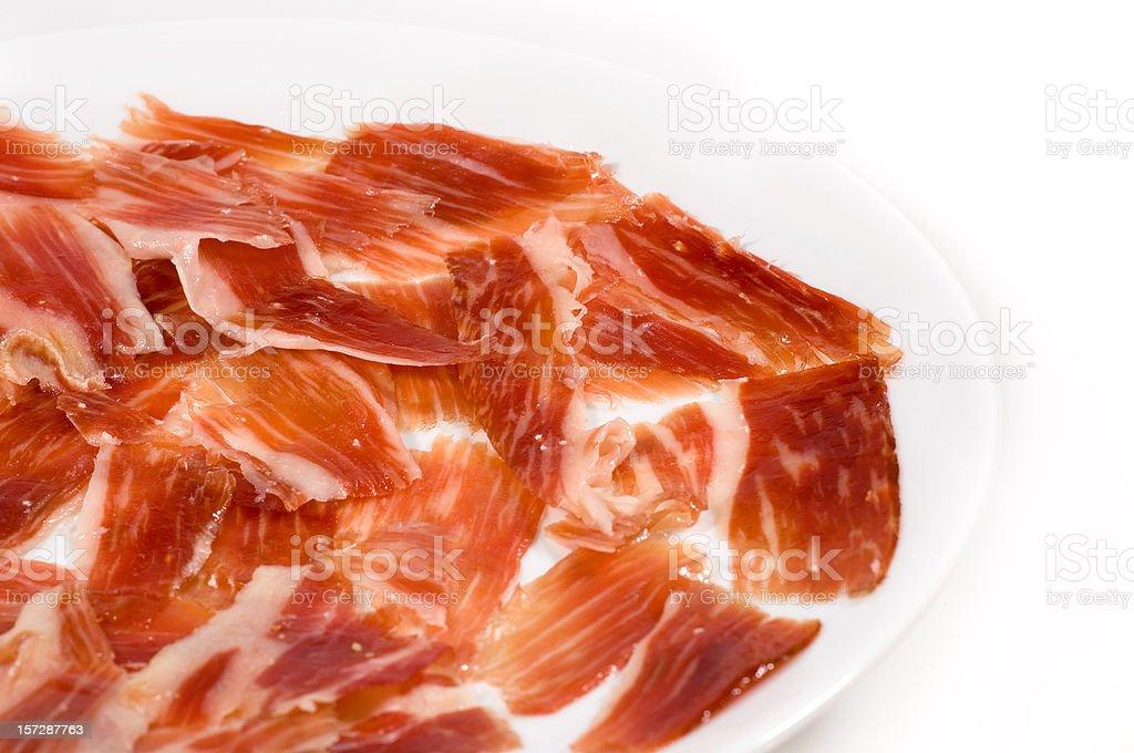 Spanish Jabugo Jamon stock photo