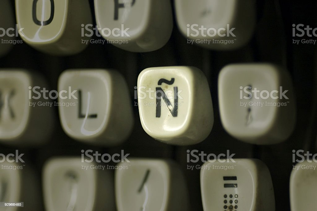 spanish keyboard royalty-free stock photo