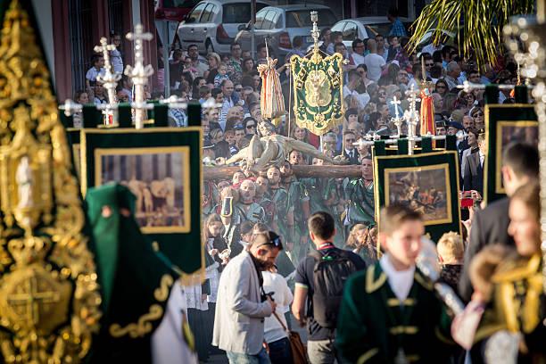 spanish legionnaires marching - easter procession spain bildbanksfoton och bilder