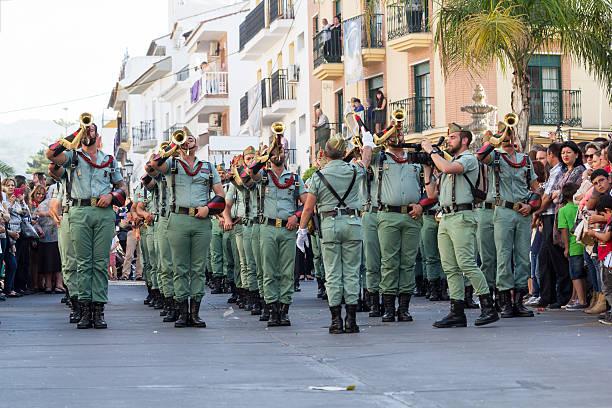 spanish legionnaires - easter procession spain bildbanksfoton och bilder