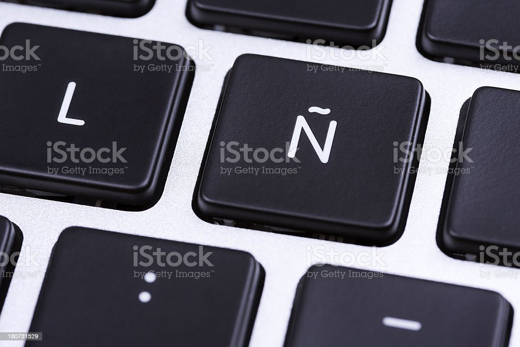 Spanish Letter N royalty-free stock photo