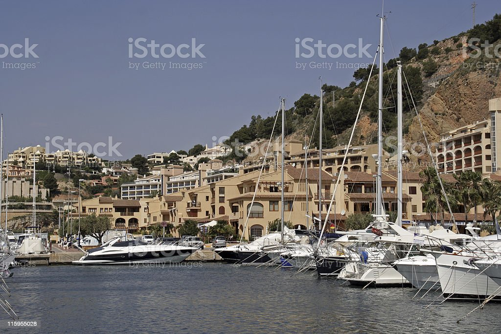 Spanish Marina royalty-free stock photo