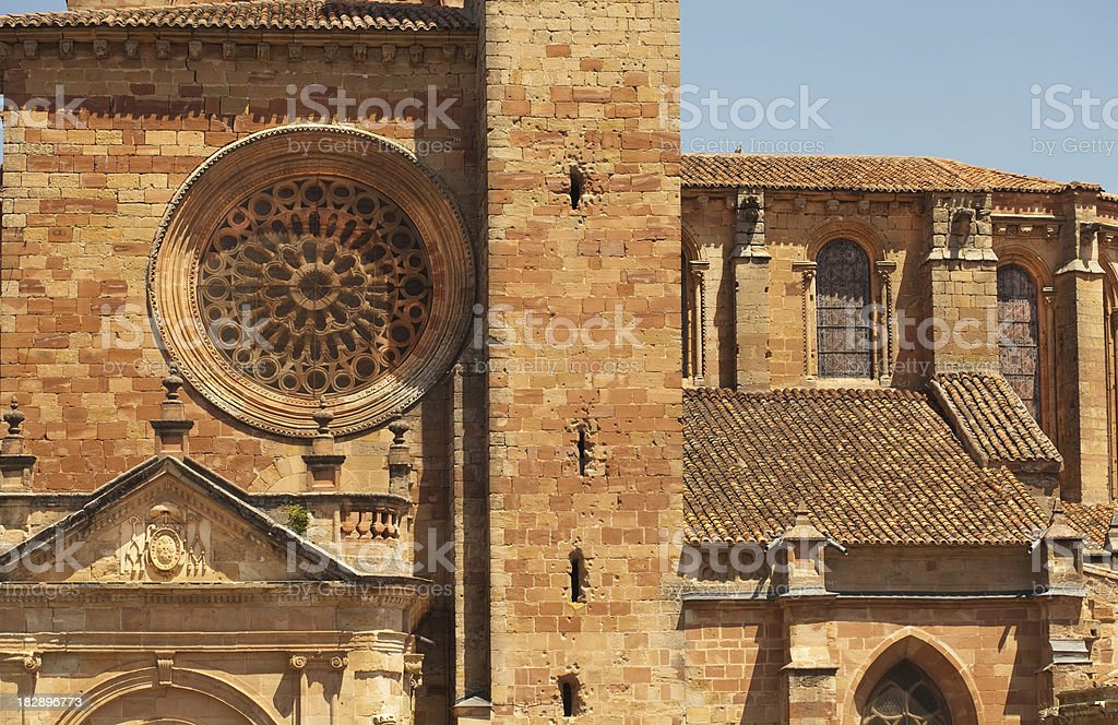 spanish medieval cathedral royalty-free stock photo