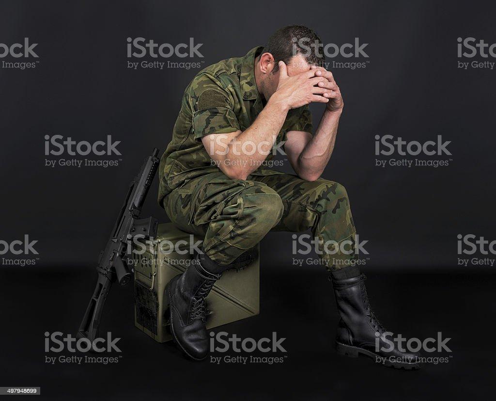 Spanish military stock photo