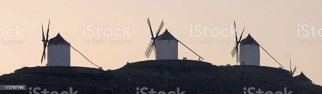 Spanish mills stock photo