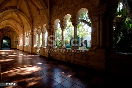 Interior image of Monastery of St. Bernard de Clairvaux a spanish Monastery located in Miami Beach.
