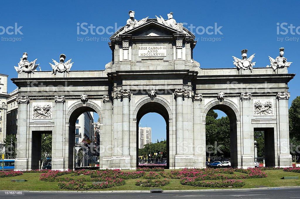 Spanish monument. Madrid royalty-free stock photo