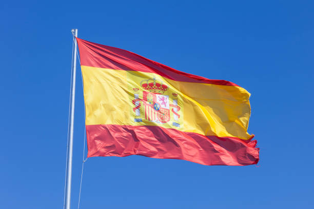 bandera nacional español - andalusian flag fotografías e imágenes de stock