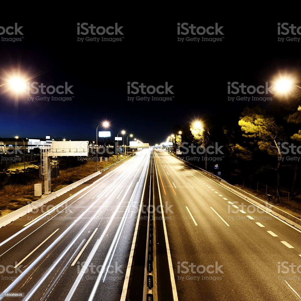 Spanish night traffic royalty-free stock photo