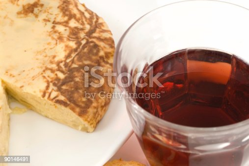 508216406 istock photo Spanish Omelet and a glass of wine 90146491