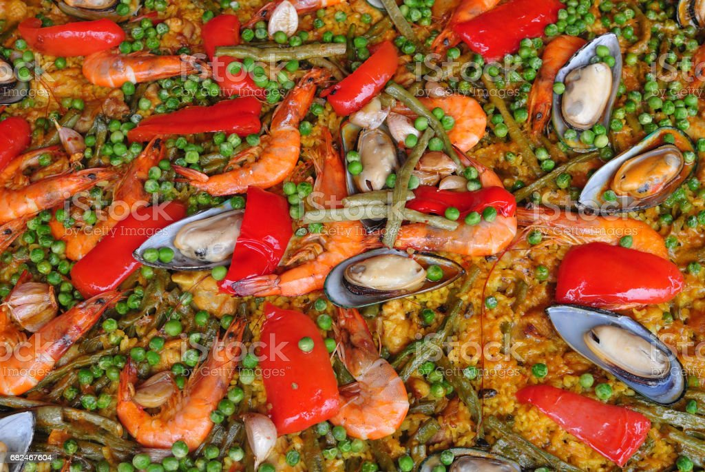 Spanish paella foto stock royalty-free