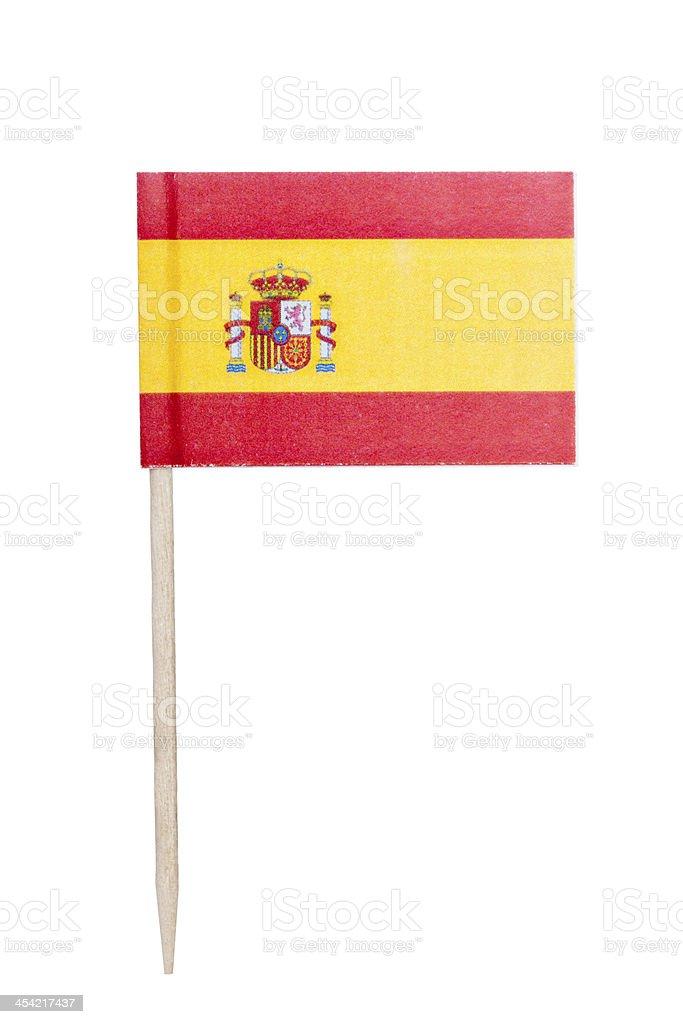 Carta bandiera spagnola - foto stock