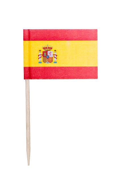 Spanish paper flag foto