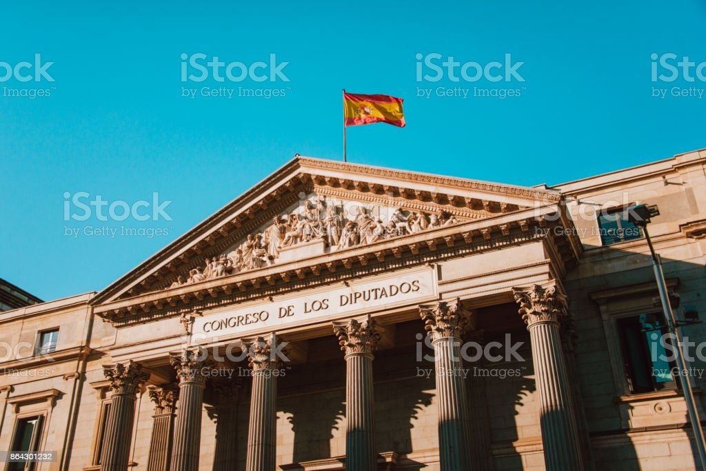 Spanish Parliament building royalty-free stock photo