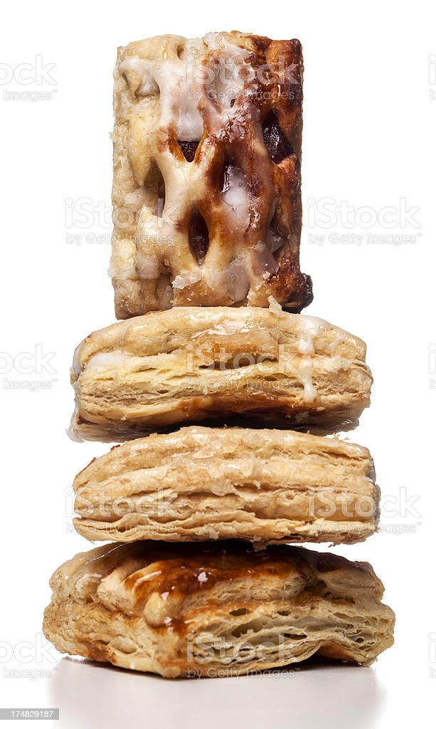 spanish pastries stacked royalty-free stock photo
