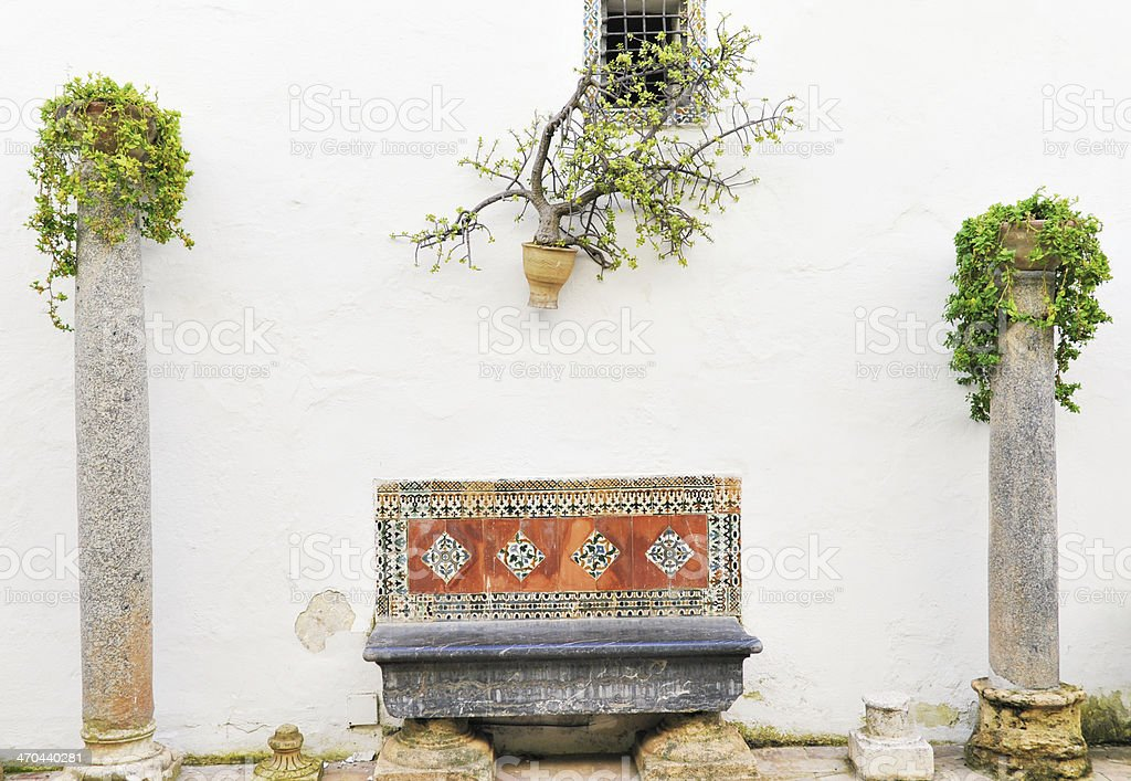 Spanish patio royalty-free stock photo