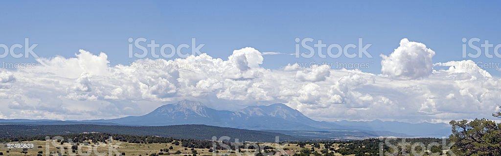 Spanish Peaks panorama royalty-free stock photo