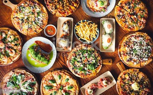 istock Spanish Pizzas. 1223569561