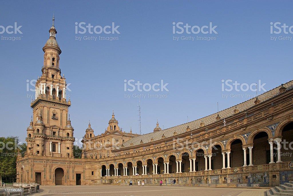 Spanish Plaza, Seville royalty-free stock photo