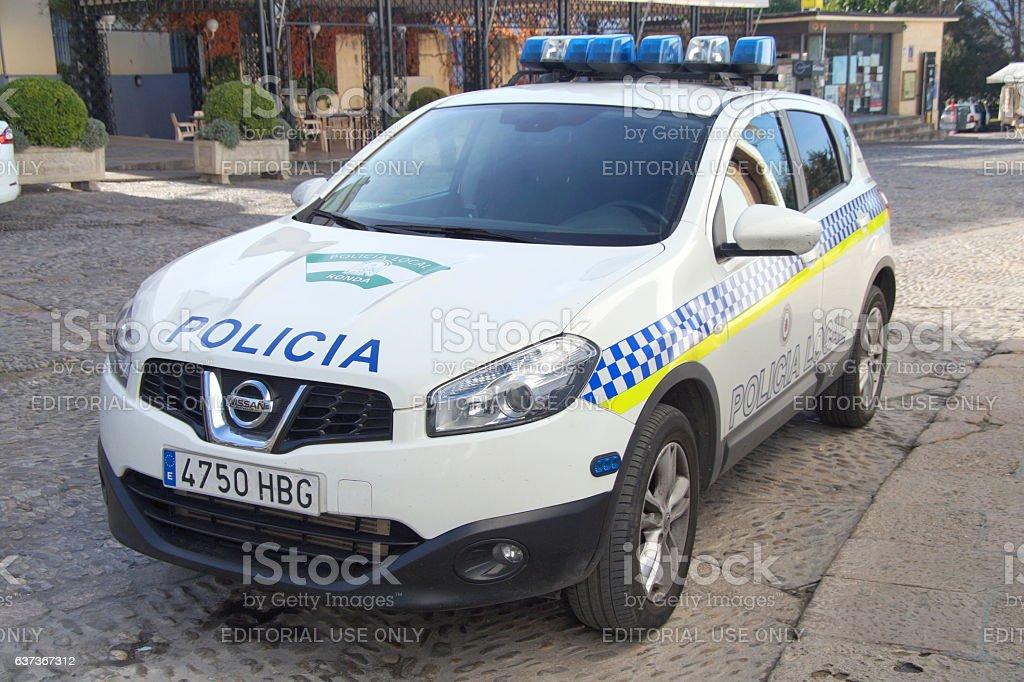 Spanish Police Car Nissan Qashqai Policia Local Stock Photo