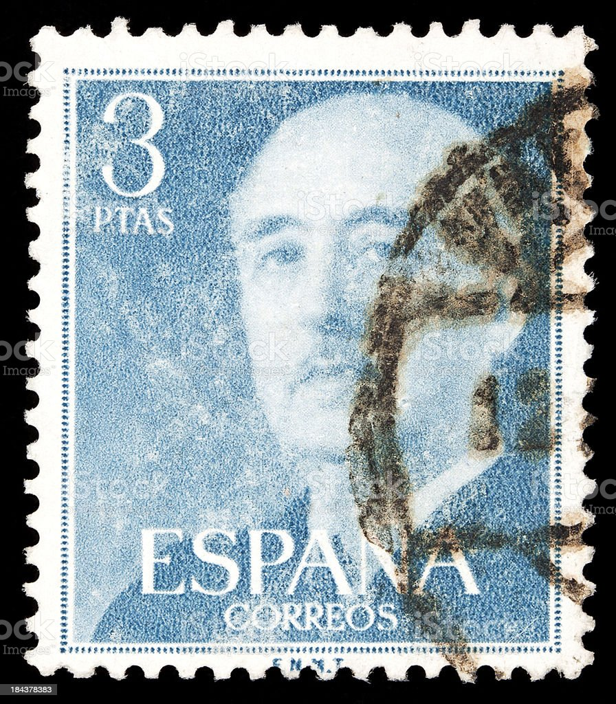 spanish postage stamp stock photo