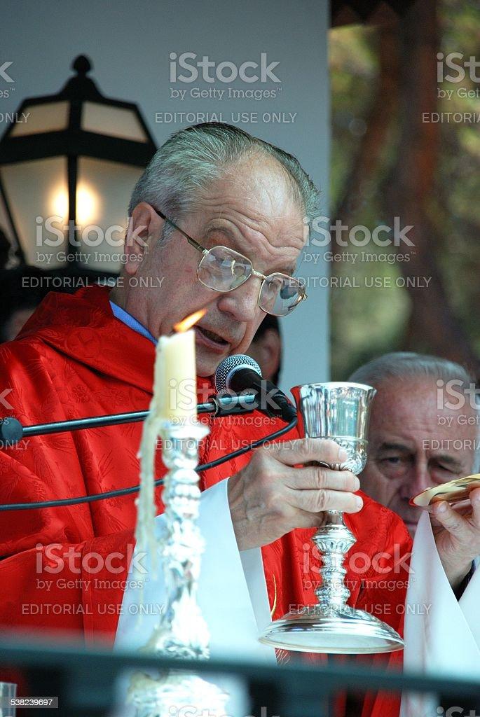 Spanish priest, Marbella. stock photo