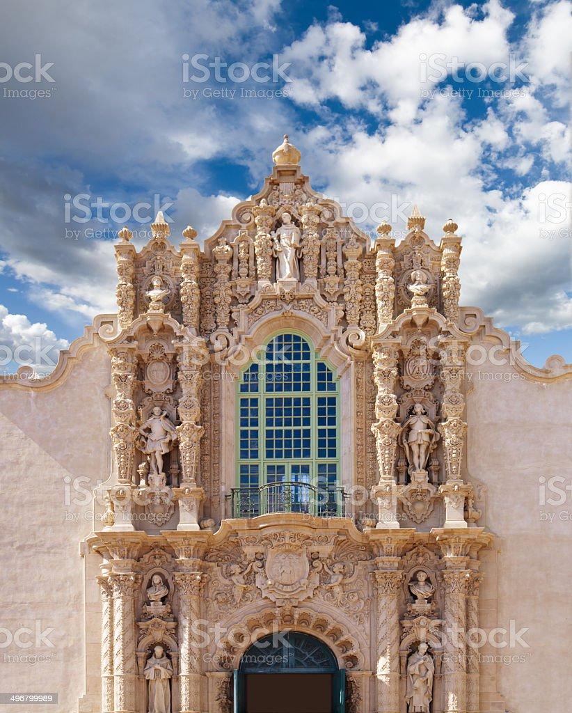 Spanish renaissance architecture in Balboa Park, San Diego royalty-free stock photo