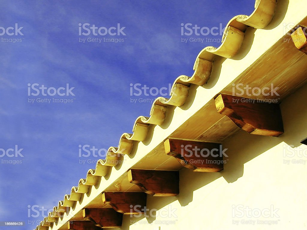 Spanish roof royalty-free stock photo