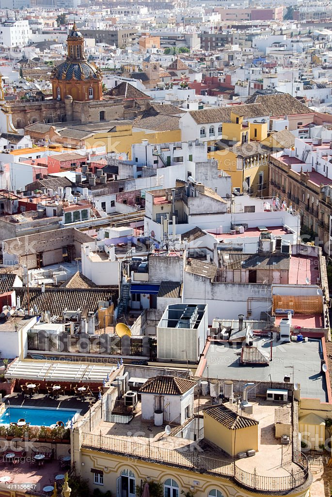 Spanish rooftops royalty-free stock photo