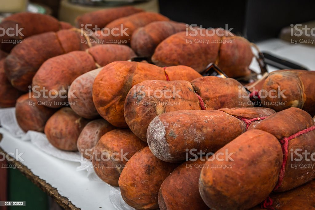 Spanish Sausages - Sobrassada stock photo
