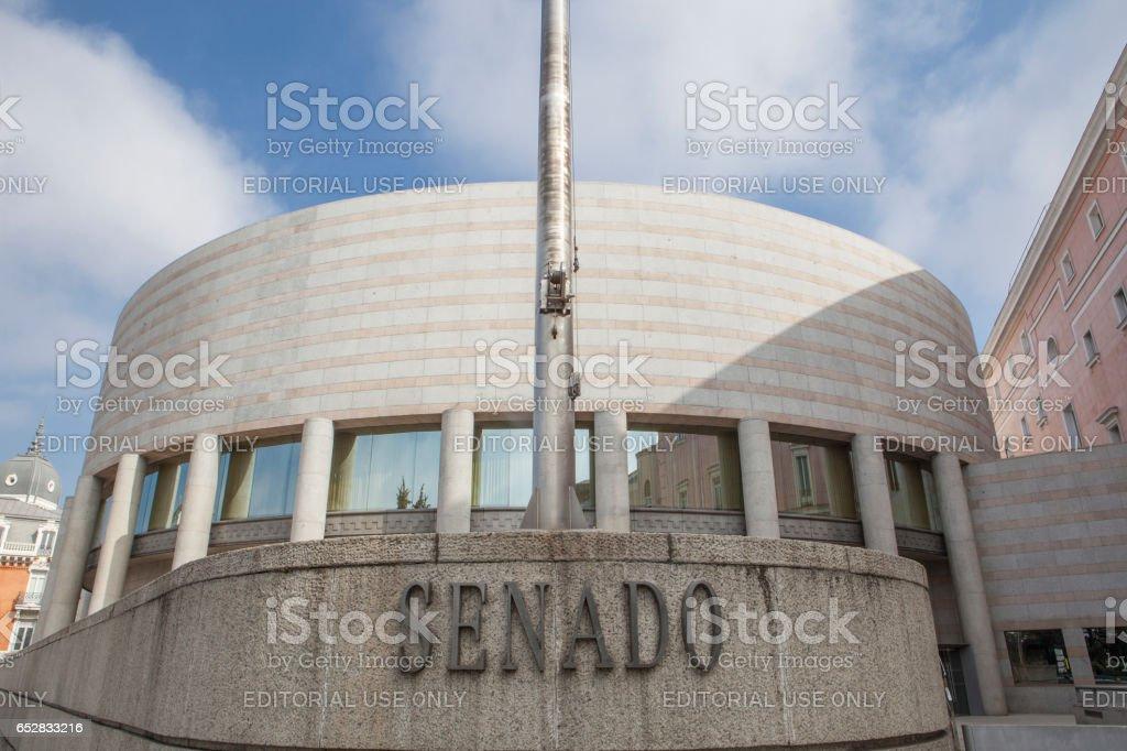 Spanish senate building stock photo