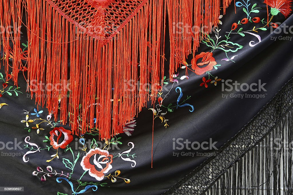 Spanish shawls in Cordoba stock photo