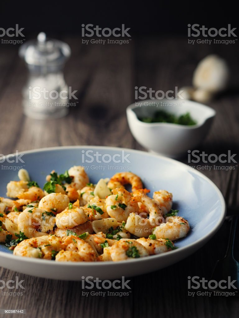 Spanish Shrimp Tapas stock photo
