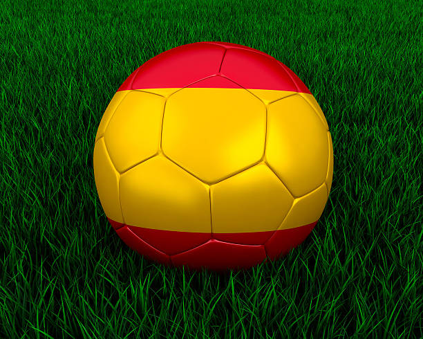 Spanish soccer ball stock photo