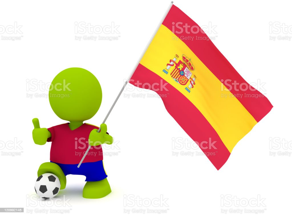 Spanish Soccer royalty-free stock photo
