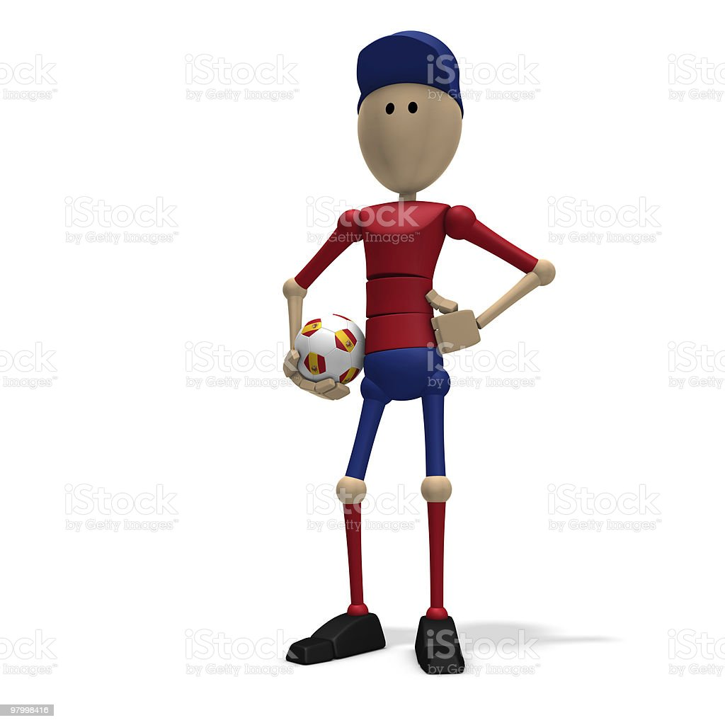 spanish soccer player royalty-free stock photo