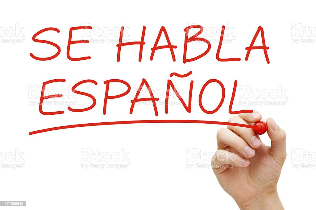 Se Habla Espanol stock photo